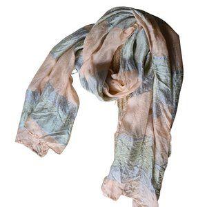 Womens Pink Gretly Silver Soft 100% Silk Scarf